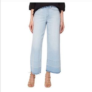 1. STATE Release hem wide leg crop